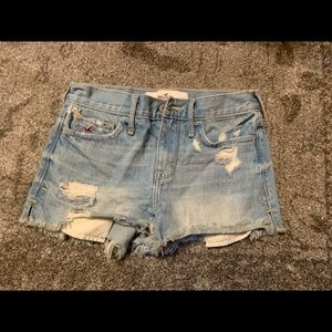 Hollister Co. Distressed Denim Shorts